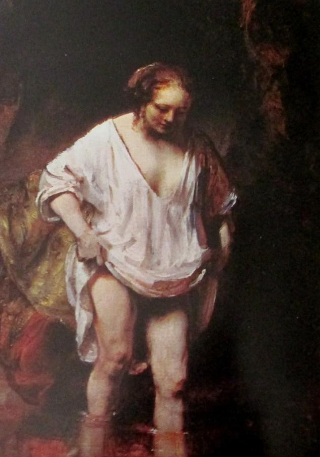 Rembrandt van Rijn   A woman bathing in a stream