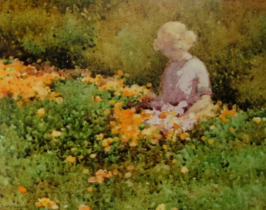 R W Sturgess | Among the Marigolds (1923)