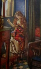 Eleanor Fortiscue Brickdale | Elaine Sewing from Idylls of the King by Alfred Lord Tennyson London Hodder & Stoughton