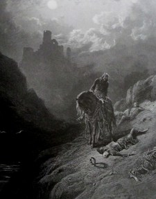 Gustave Dore   Uther discovers the two brothers Idyll of the King London