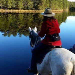 MaryAnn riding Peacefully