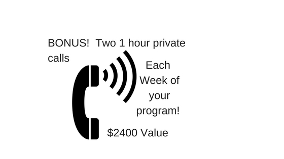 Additional 1 hour phone call each week!