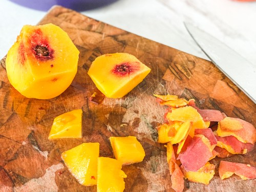 Smother it over toast, pancakes, peanut butter sandwiches... there are endless possibilities for peach butter!