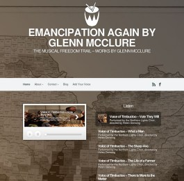 website screenshot - emancipationagain.com