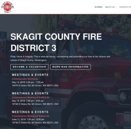 website screenshot - skagitfire3.org