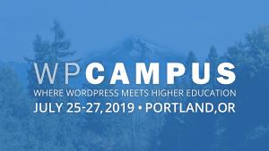 WPCampus 2019 banner