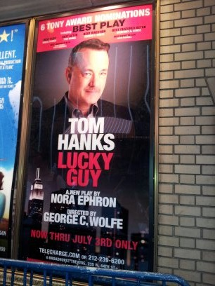 Tom Hanks, with Mustache
