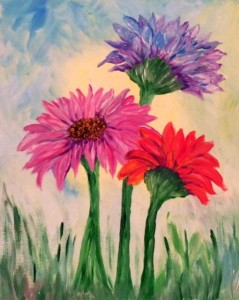 flowers I painted
