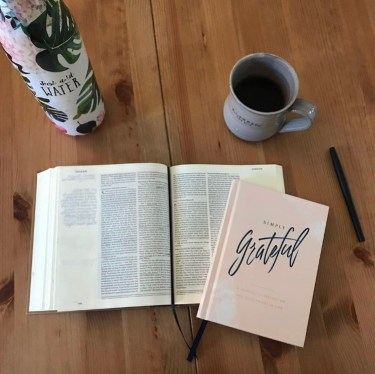 The necessary components of simplified Bible study: a pen, the Bible, and God.