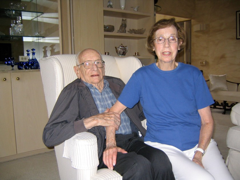 Doc and Margie Canmann on a visit to HP