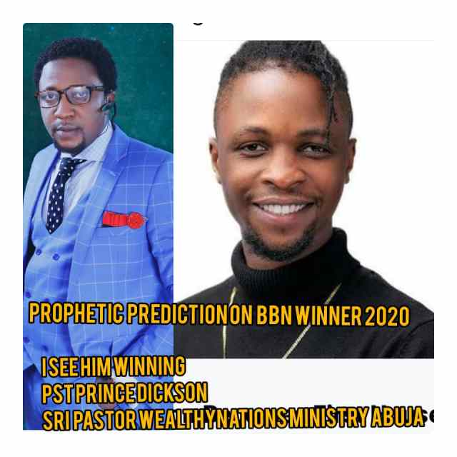 Pastor Prince Dickson: 'Laycon Will Be BBNaija 2020 Winner'