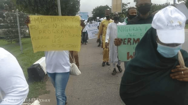 "N-Power Beneficiaries In Peaceful Protest In Abuja: ""Please Don't Send Us Back"""