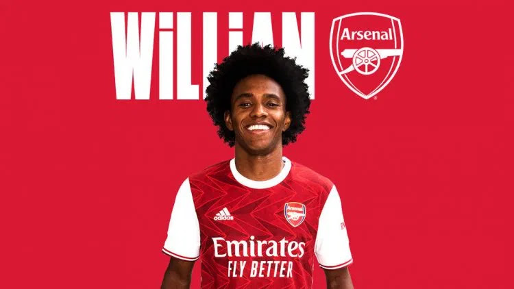 Willian officially joins Arsenal