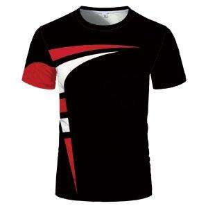 Men's and Women's O-neck 3D printing short sleeve T-shirt