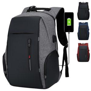 Backpack Men USB Charging Waterproof Laptop Backpack