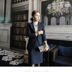 Blue suit women suit blazer dresses for woman dress