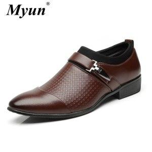 Men Shoes New Classic Leather Men'S Suits Shoes Fashion Slip On Dress