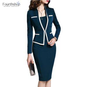 Fashion Suits for Women Office Uniform Formal Dress Suits