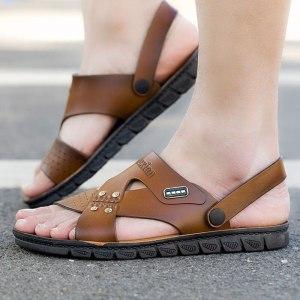 Men Sandals Leather Summer Beach Shoes Men's Sandal