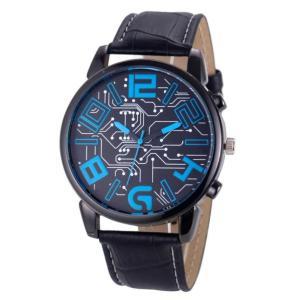 Luxury Men's Watch sport Leather Strap Analog Quartz Sports Wrist Watch