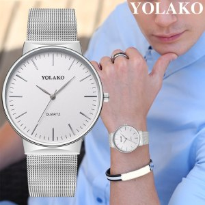 Men's Casual Quartz Stainless Steel Band New Strap Analog Wrist Watch