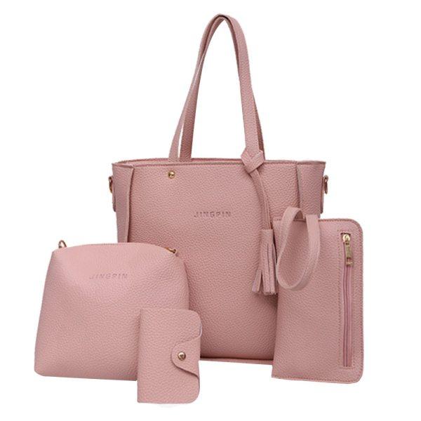 4pcs Woman Bag Set Fashion Female Purse And Handbag