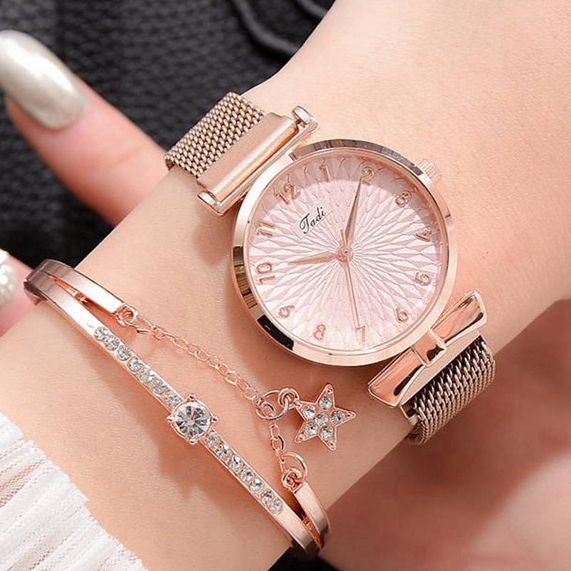 Women Bracelet Quartz Watches For Women Magnetic Watch Ladies