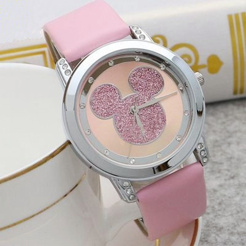 Mickey Mouse Minni Steel Quartz Watch Cartoon Children Watches