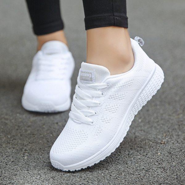 Women Casual Shoes Fashion Breathable Walking Mesh Flat Shoes Sneakers