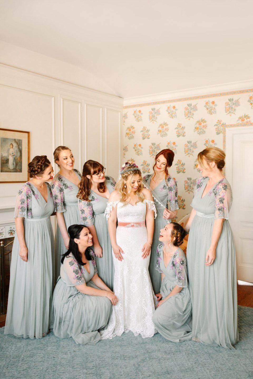 Bridal party in dressing room - www.marycostaweddings.com
