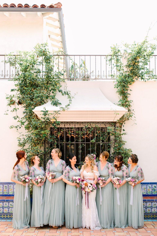 Seafoam green wedding party at Darlington House - www.marycostaweddings.com