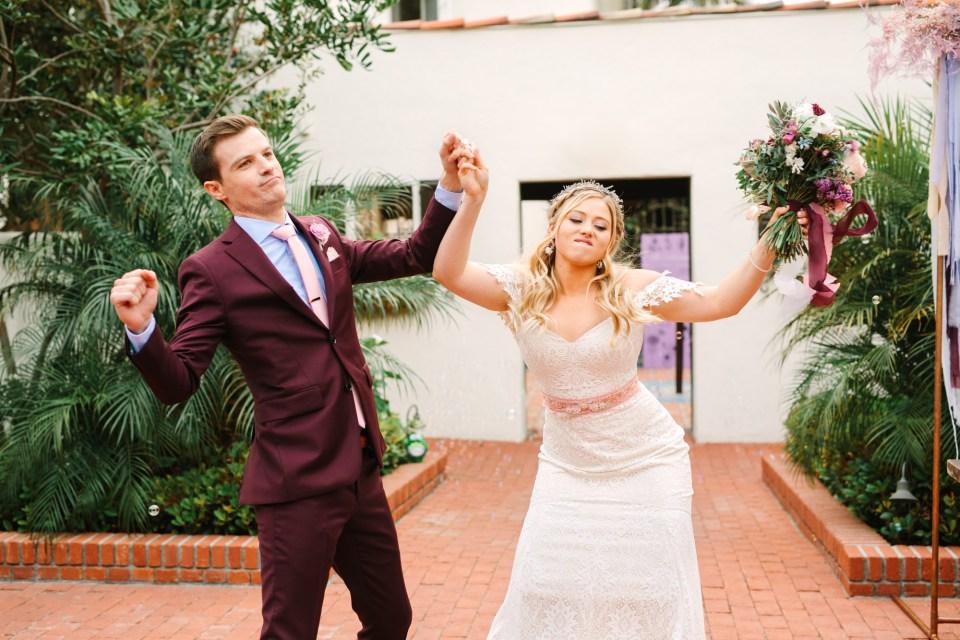 Bride and groom entrance - www.marycostaweddings.com