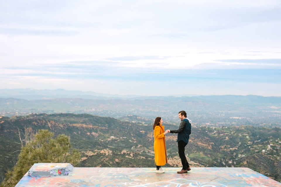 Topanga Canyon Overlook engagement session by Mary Costa Photography