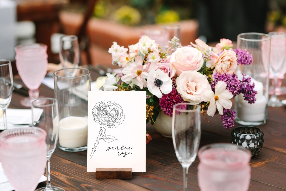 Wedding table card by Mary Costa Photography