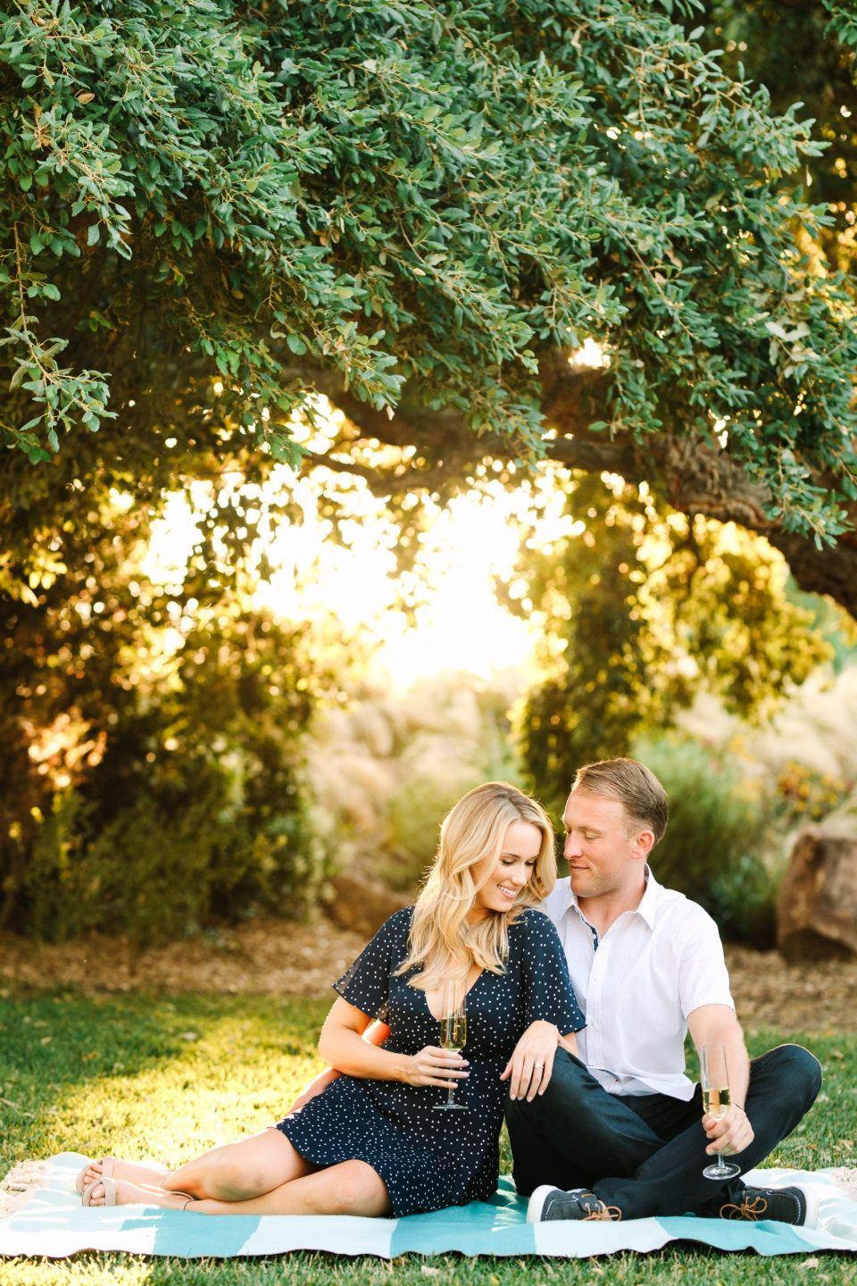 Engagement session picnic by Mary Costa Photography