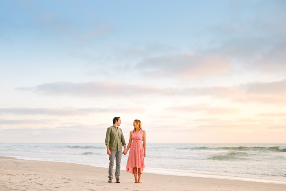 Torrey Pines Beach engagement by Mary Costa Photography