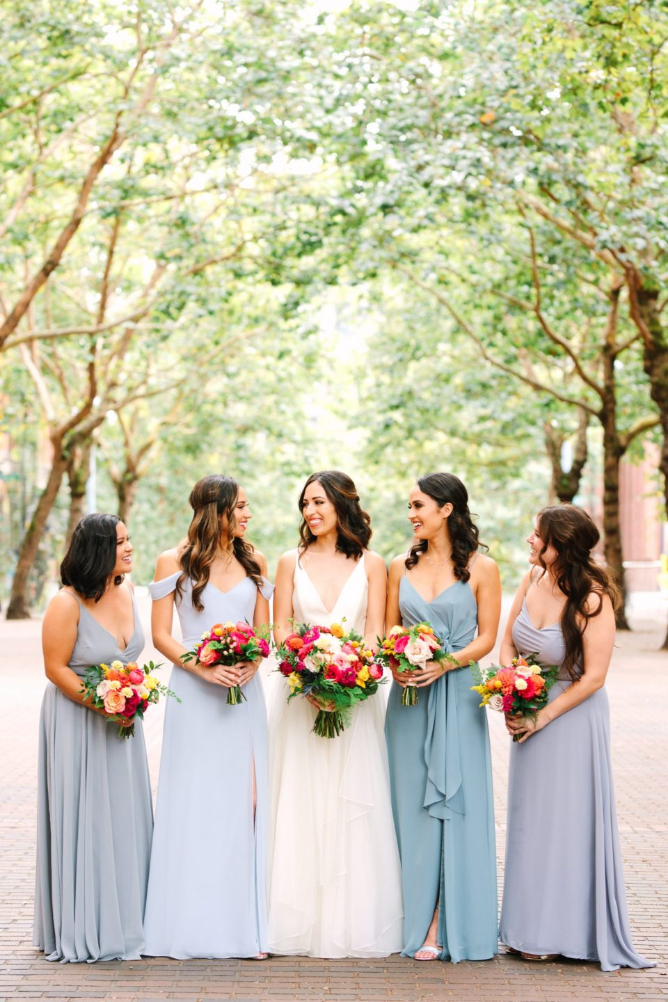 Pioneer Square wedding party by Mary Costa Photography