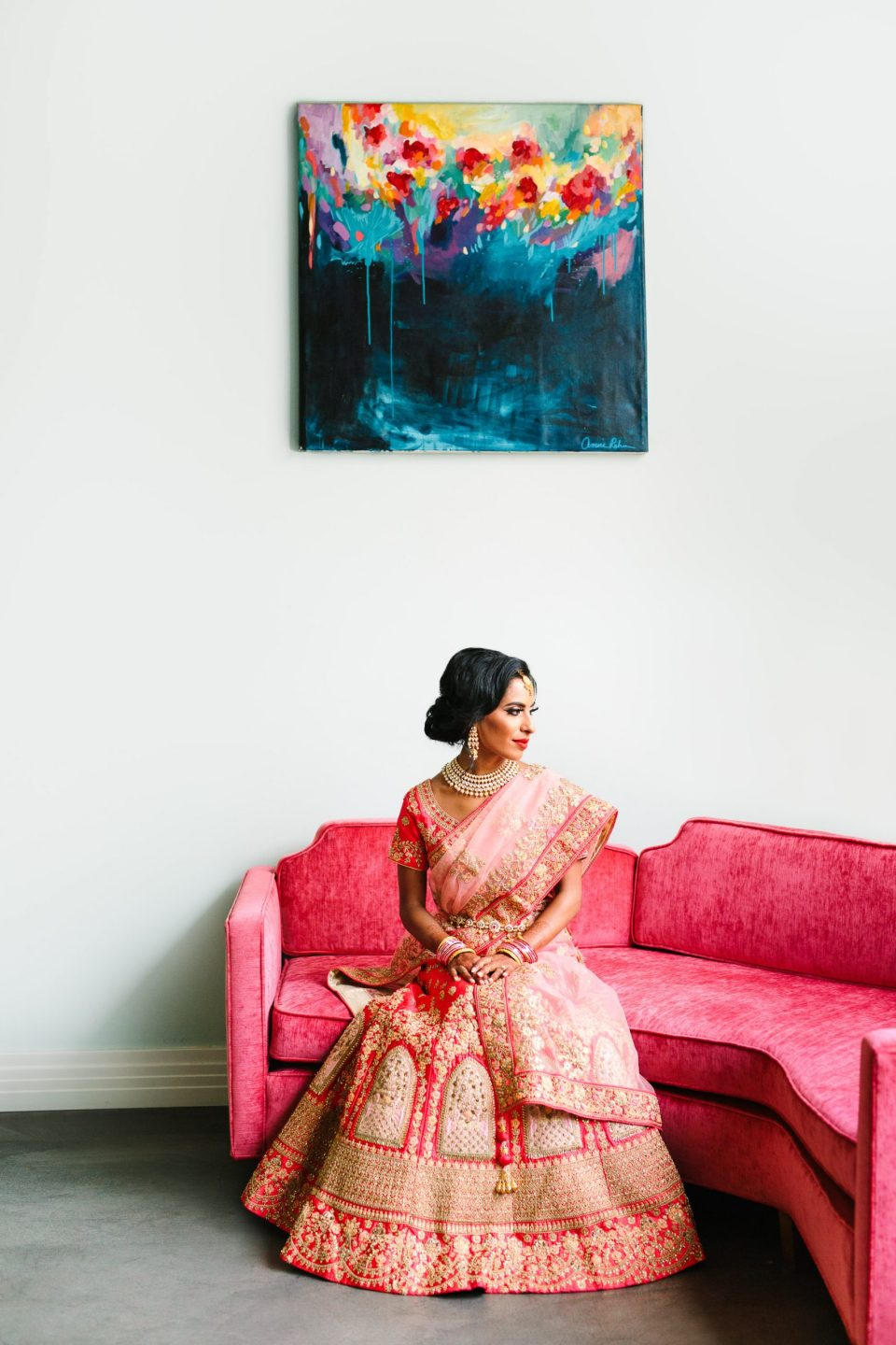 Indian Fusion wedding at Fig House Los Angeles by Mary Costa Photography