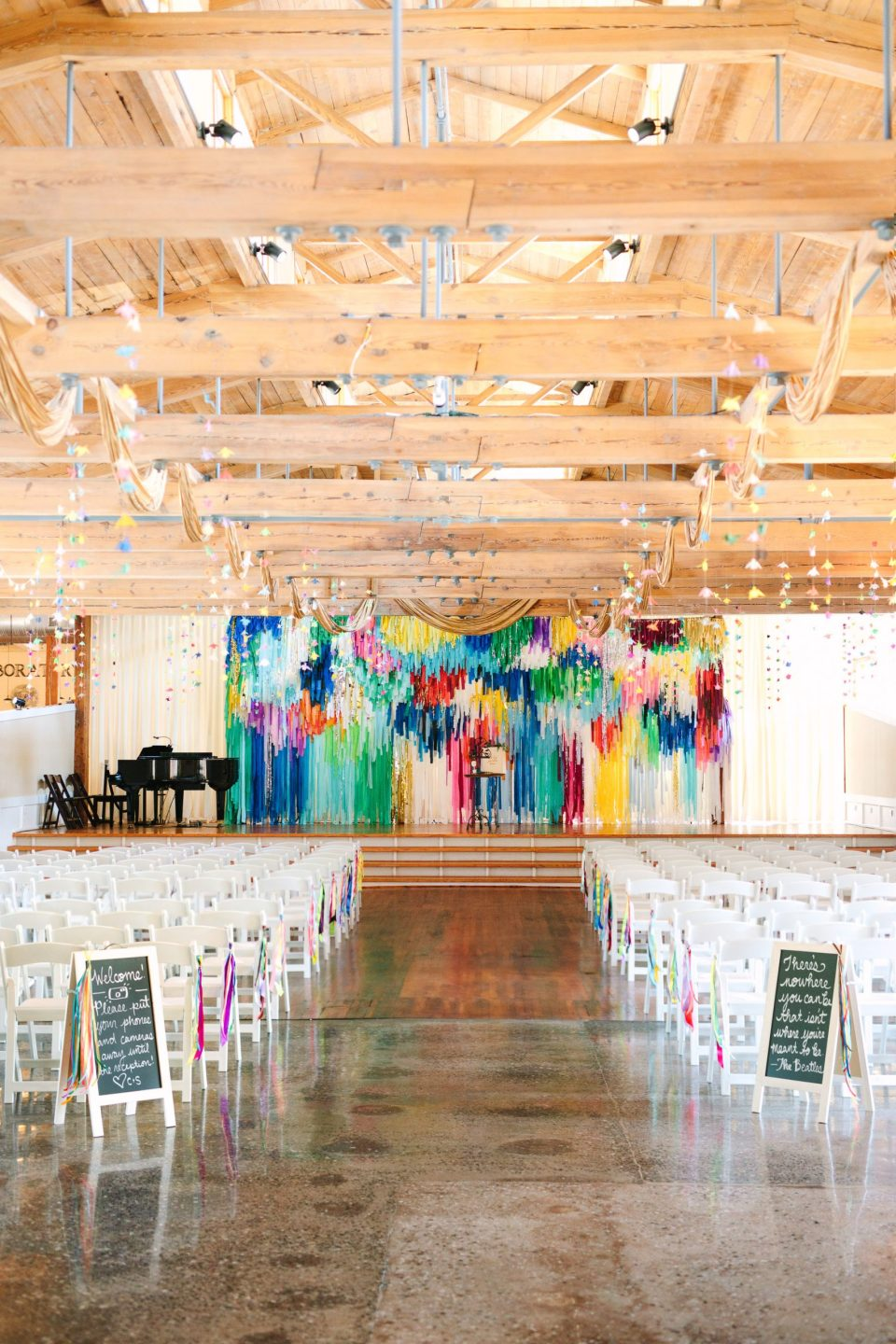 Colorful wedding ceremony in North Carolina by Mary Costa Photography