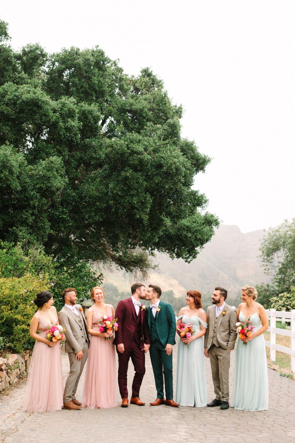 KC and Adam's Malibu Wedding Party by Mary Costa Photography