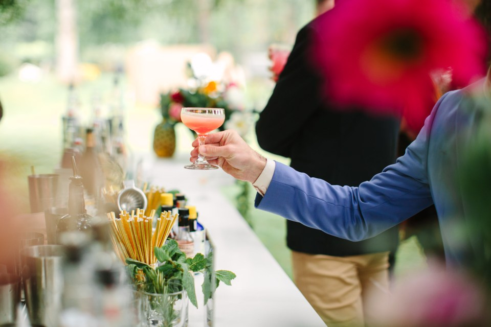 Cocktail hour by Mary Costa Photography