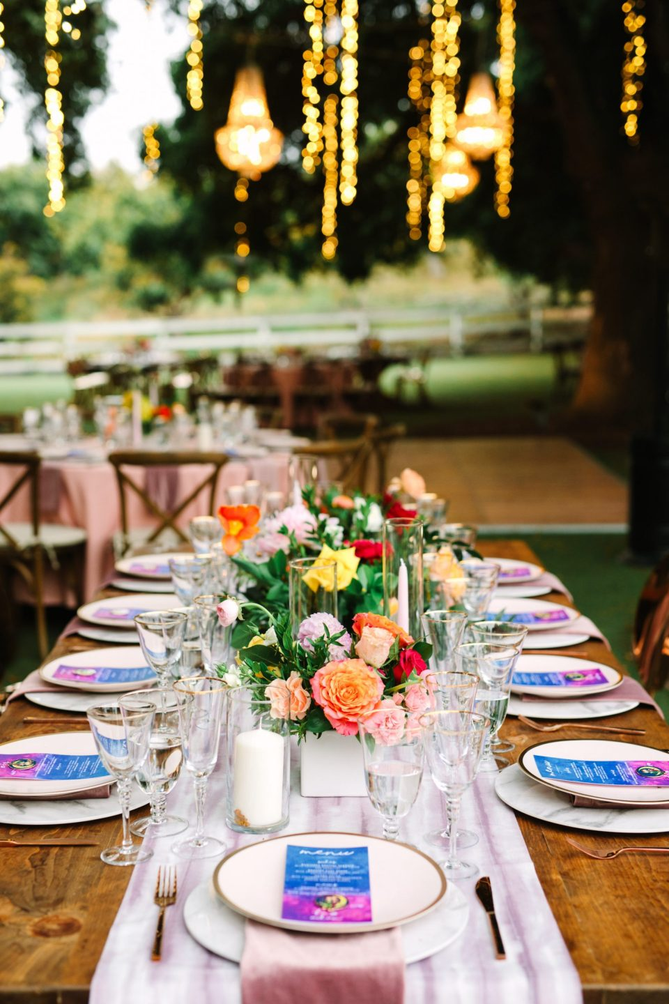 Saddlerock Ranch tablescape by Mary Costa Photography