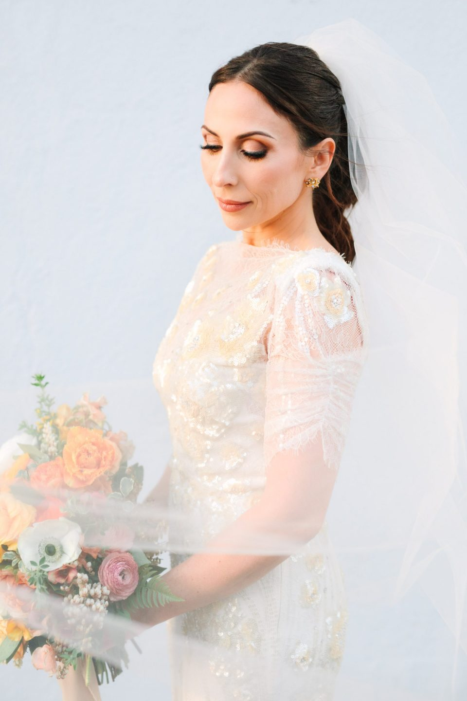 Bridal portrait with makeup by James Charles www.marycostaweddings.com