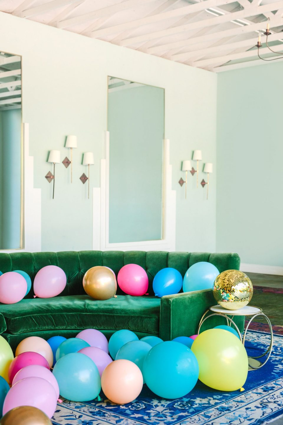 Balloons at The Fig House - www.marycostaweddings.com