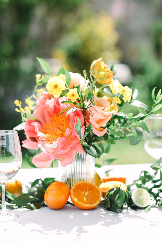 Citrus and flowers - www.marycostaweddings.com