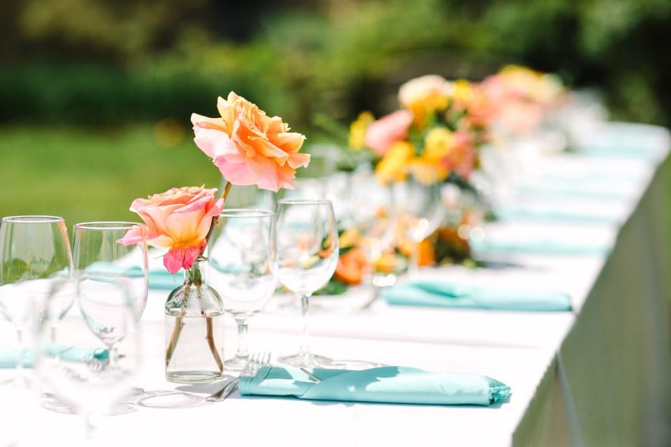 Luncheon micro wedding decor - www.marycostaweddings.com