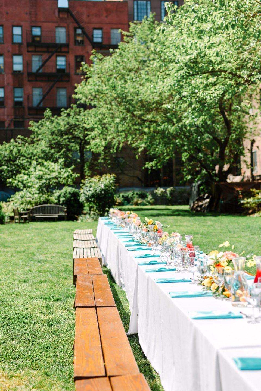 Luncheon wedding in NYC Marble Cemetery - www.marycostaweddings.com