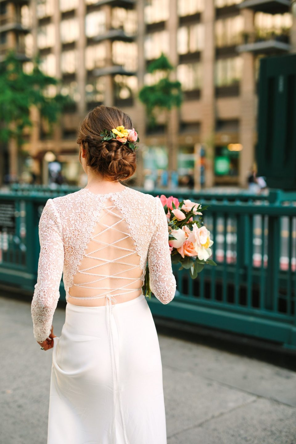 Back of Anais Anette gown - www.marycostaweddings.com