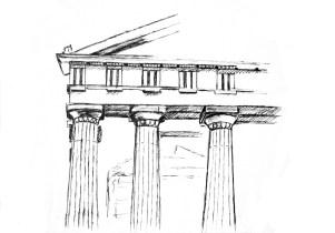 East Pediment Parthenon, Acropolis, Athens, Greece