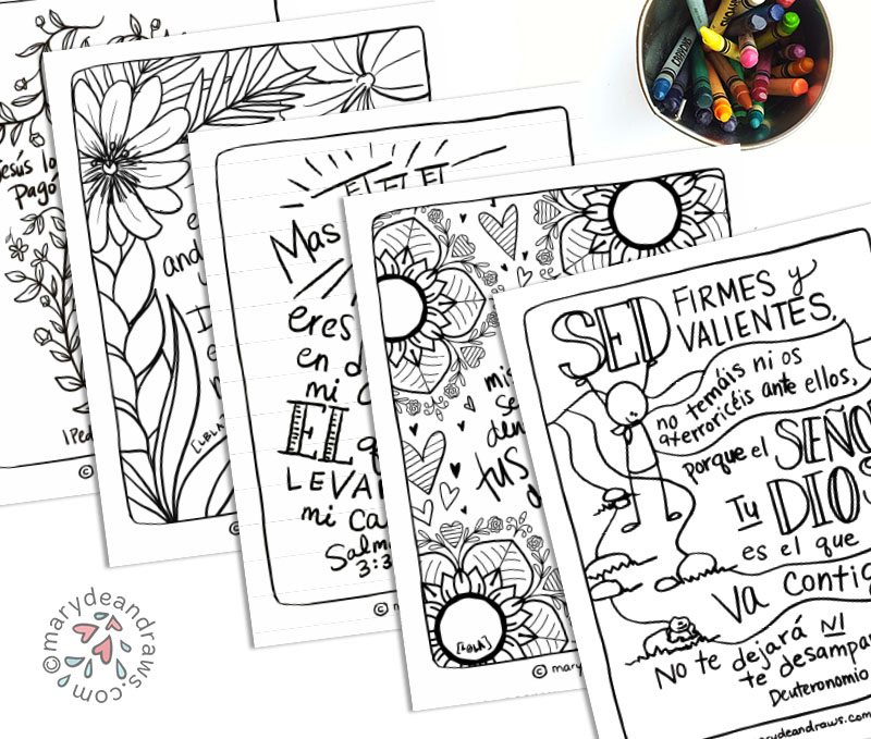 Printable Bible Verse Coloring Pages Blog Collection Spanish 23 Pages